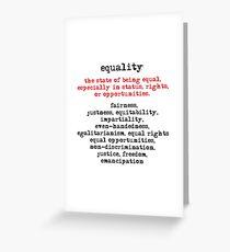Equality Greeting Card