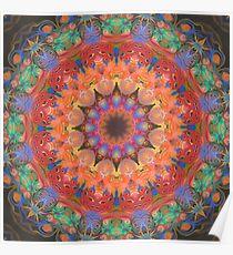 Space Flower Mandala Poster