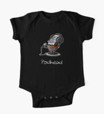 Funny Podcast Design Podhead for real Audio Junkies  Kids Clothes