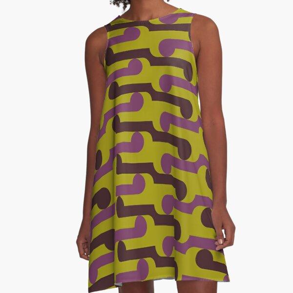 Piwakawaka (pink and lime) A-Line Dress