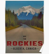 Rocky Mountains Canada Travel Poster Poster