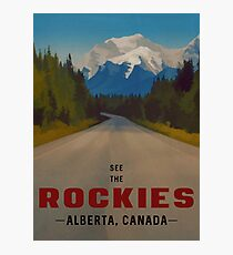 Rocky Mountains Canada Travel Poster Photographic Print