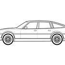 Rover SD1 3500 V8 Outline drawing by RJWautographics