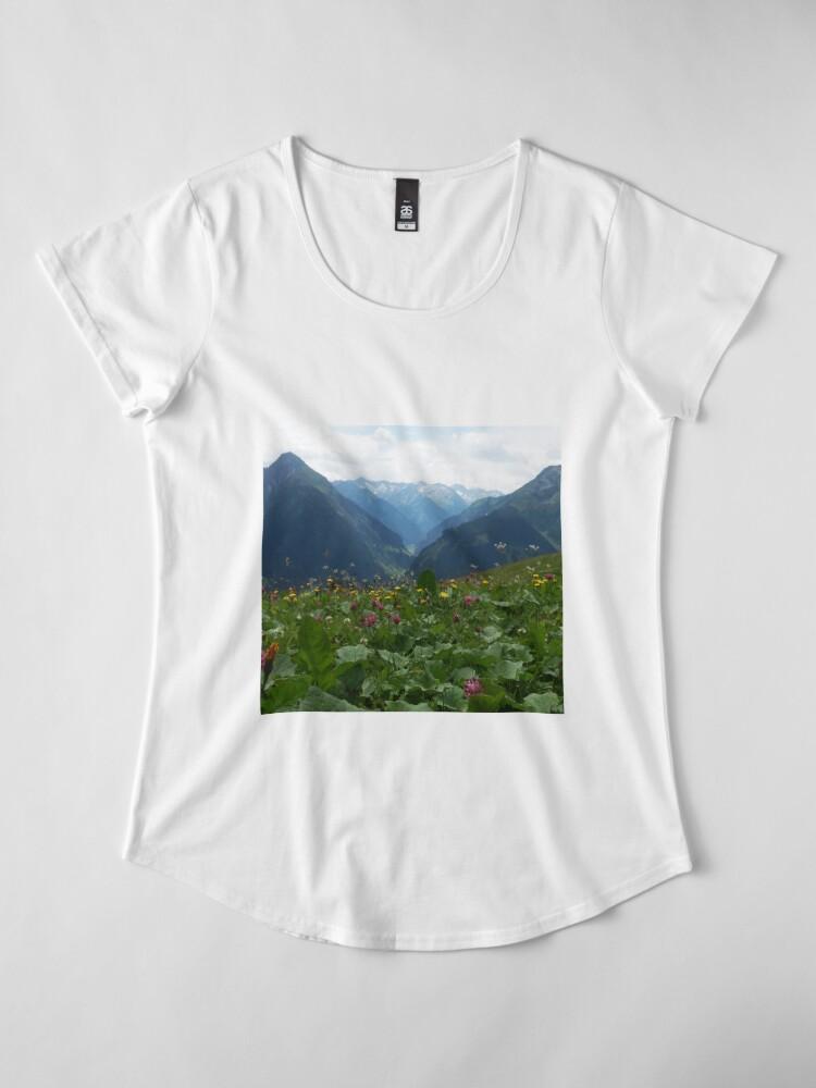 Alternative Ansicht von Wilde Blumen Premium Rundhals-Shirt