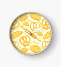 Seamless pattern with bakery Clock