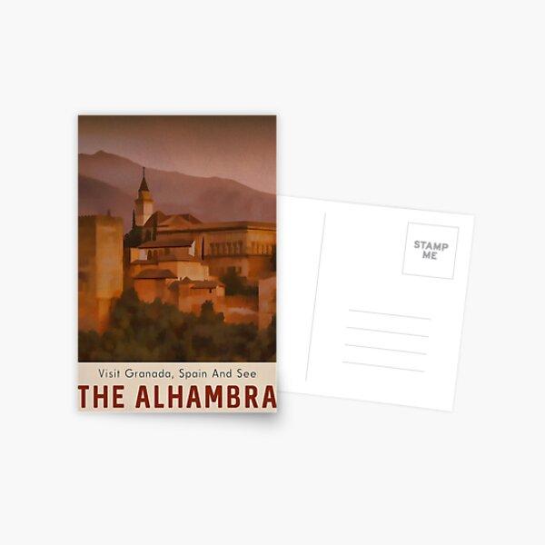 Alhambra Travel Poster Granada España Postal