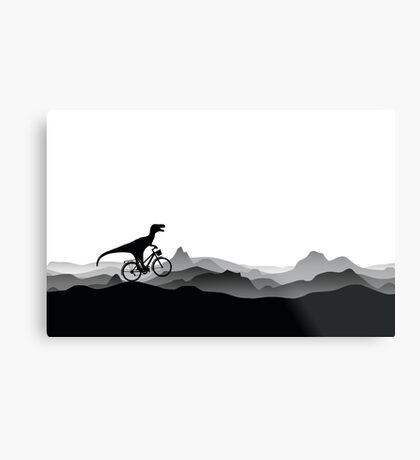 BICYCLE DINO - Dino Collection Metal Print