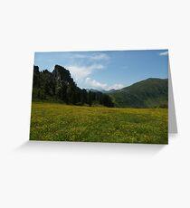 Alpine meadow Greeting Card