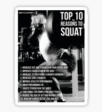 Top 10 Reasons To Squat - Leg Day Infographic Sticker