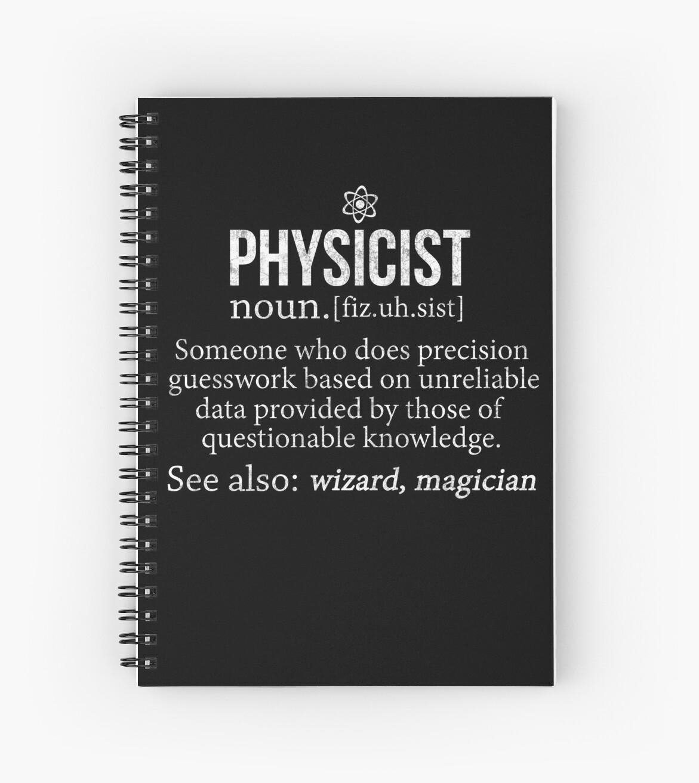 Physiker Lustiges Definitions Physiker Geschenk Hemd Spiralblocke