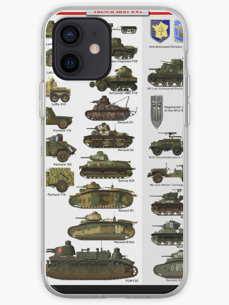ww2 French Tanks & AFVs | iPhone Case & Cover