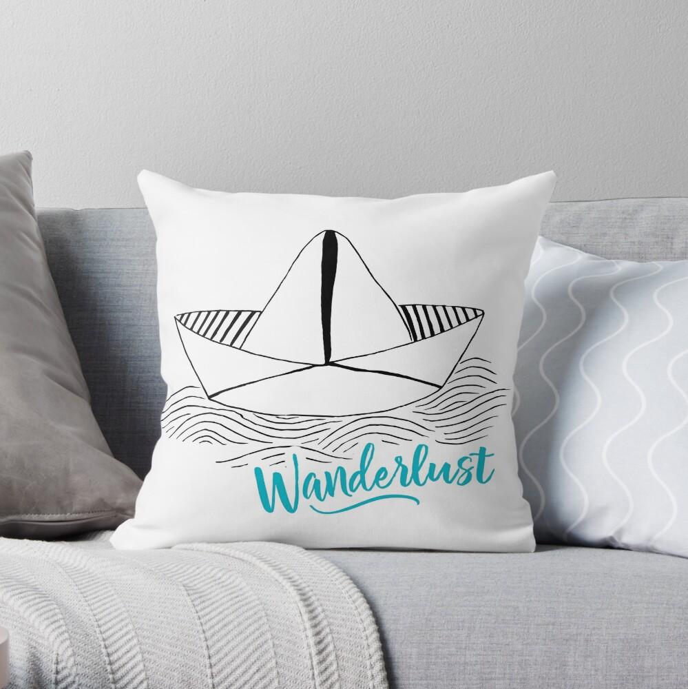 Wanderlust - Travel addiction Throw Pillow