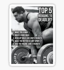Top 5 Reasons To Deadlift - Back Day Infographic Sticker