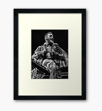 CHAMP CHAMP / B&W VERSION Framed Print