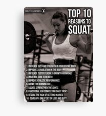 Top 10 Reasons To Squat - Women's Leg Day Infographic Canvas Print