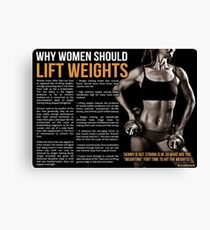 Why Women Should Lift Weights - Fitness Infographic Canvas Print