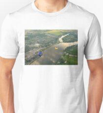 Hot Air Balloons Flyover the Richelieu River in Quebec Canada T-Shirt