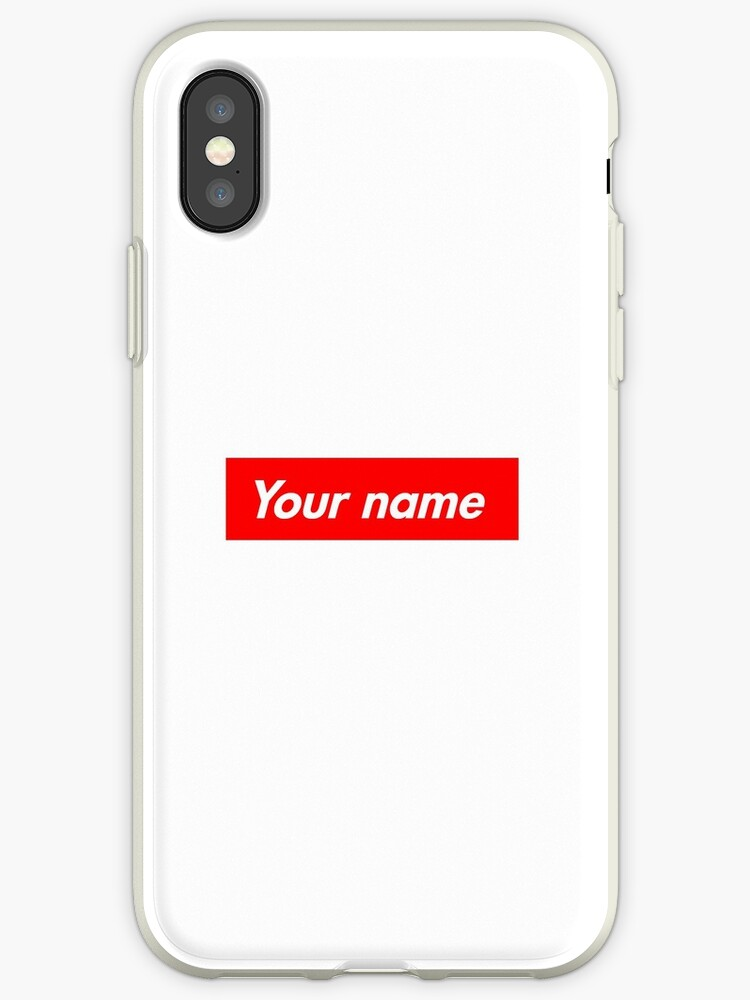newest 261e5 63eb0 'Customisable Supreme Box Logo' iPhone Case by Redbates