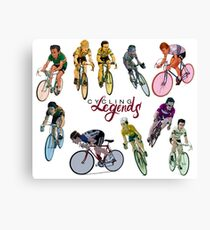 Cycling Legends pattern Canvas Print