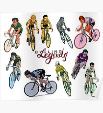 Cycling Legends pattern Poster