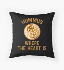 Hummus Where The Heart Is - Funny Israeli Food  Throw Pillow