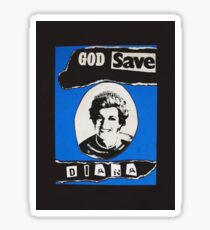 God save Diana Sticker