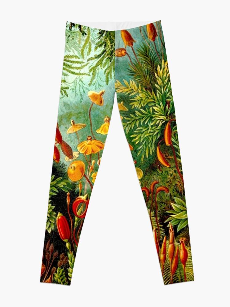 Alternate view of FLOWER GARDEN; Vintage Art Print Leggings