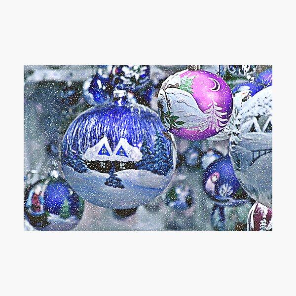 Stylish Christmas Ornaments Photographic Print