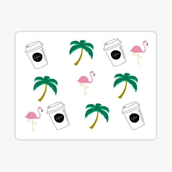 Tropical vacay dreams Sticker