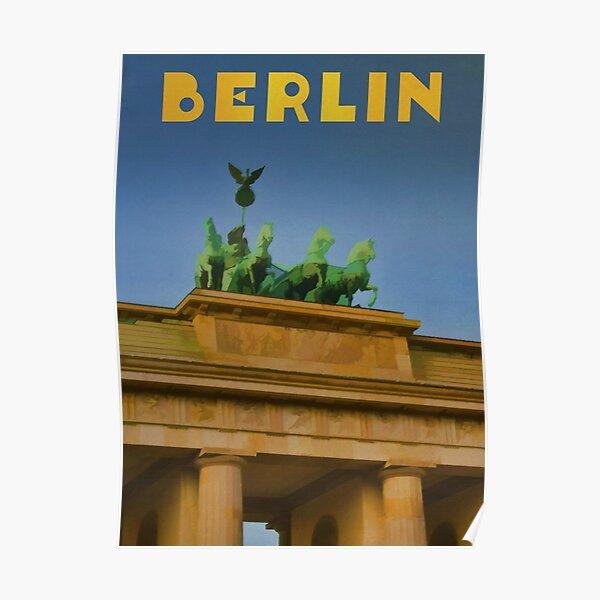 Berlin Travel Poster Brandenburg Gate Poster