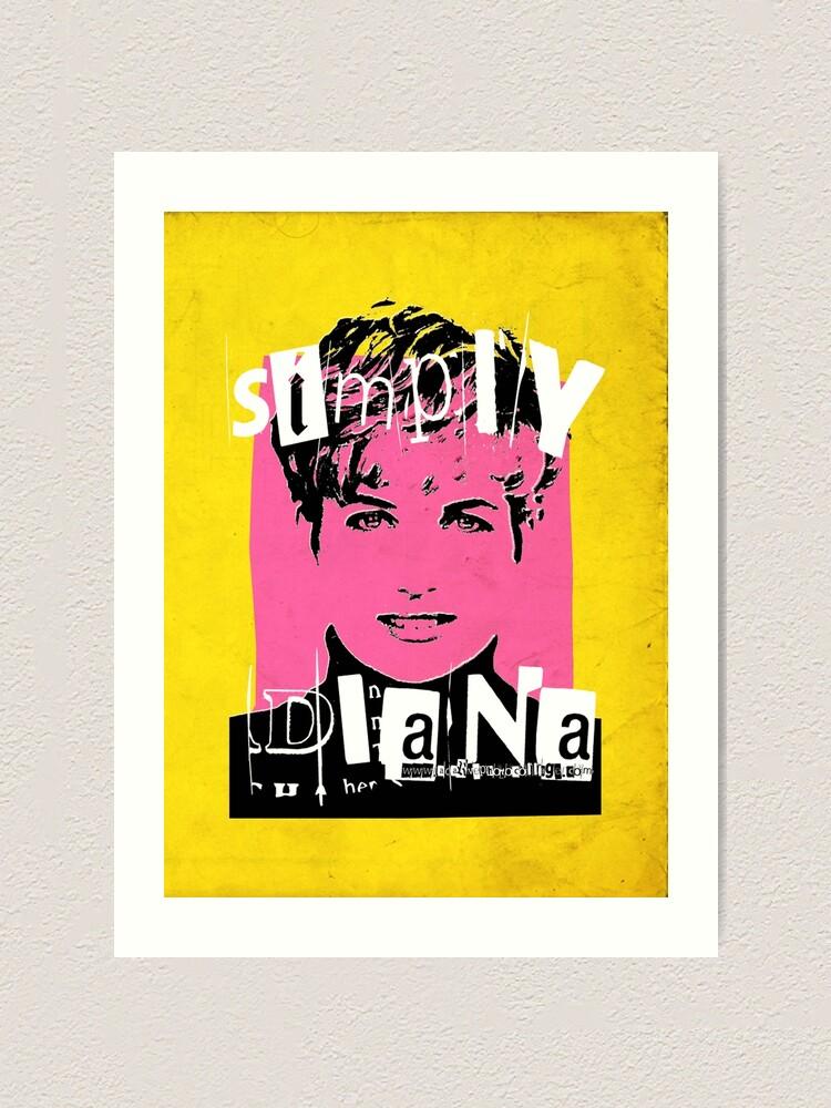 Simply Diana Pop Art Portrait Art Print By Adarvephtcllage Redbubble