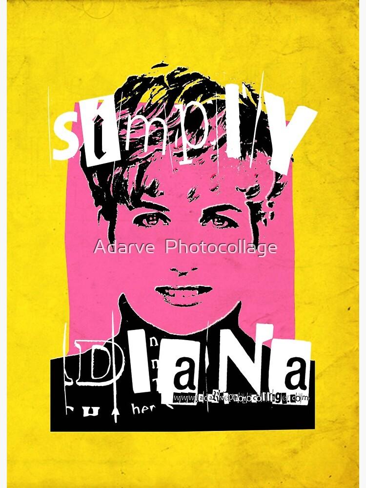 Simply Diana Pop Art Portrait Art Board Print By Adarvephtcllage Redbubble