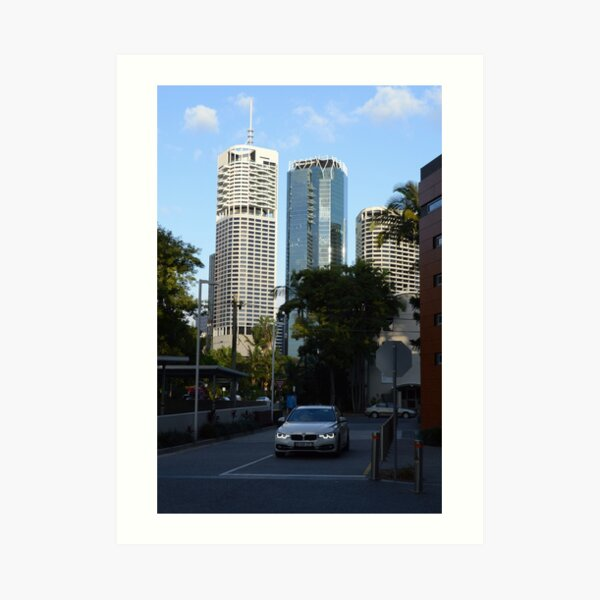 Brisbane cityscape from Kangaroo Point Art Print