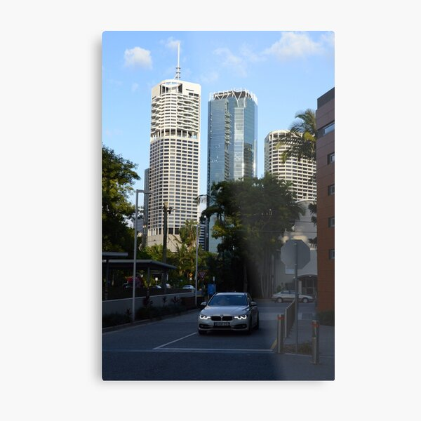 Brisbane cityscape from Kangaroo Point Metal Print