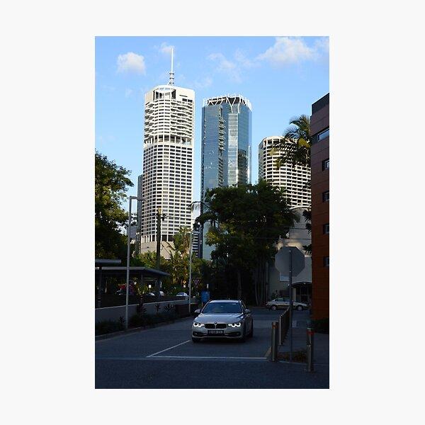Brisbane cityscape from Kangaroo Point Photographic Print