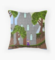 Pixel art tower Throw Pillow