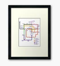 Kanto Tube Framed Print