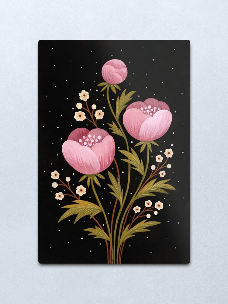 Alternate view of Blooms in the dark Metal Print