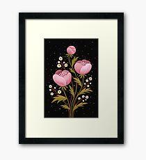 Blooms in the dark Framed Print