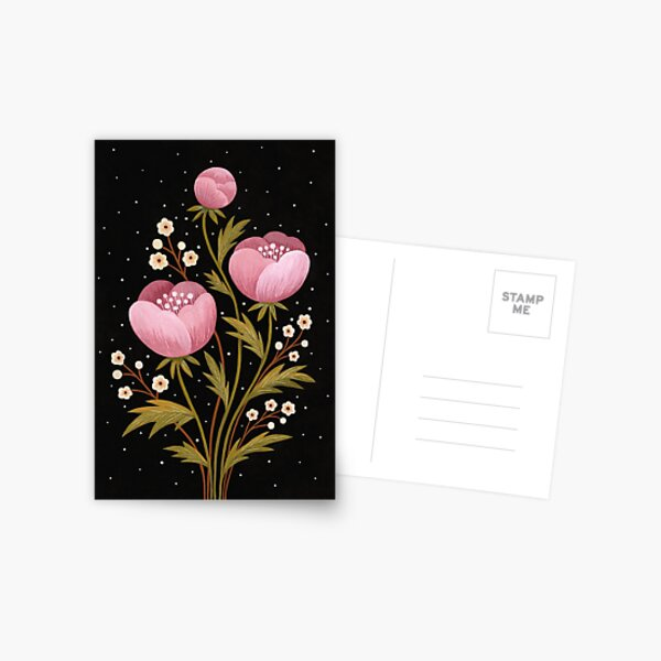 Blooms in the dark Postcard