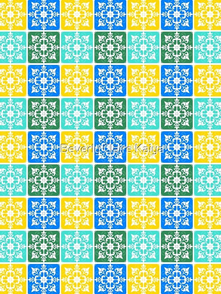 Trendy Resort Fashion Botanical Mediterranean Tiles by beverlyclaire