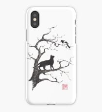 Dangerous conversations sumi-e painting iPhone Case/Skin