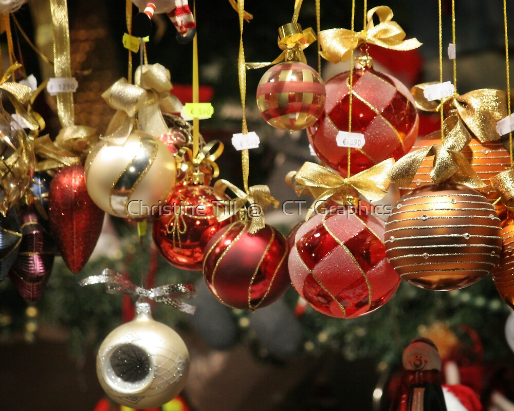 Christmas Tree Balls by Christine Till  @    CT-Graphics