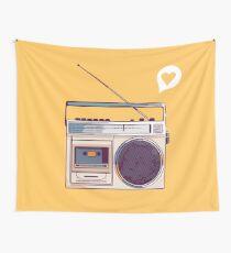 Retro Radio Boombox Wall Tapestry