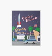 Night at the Starlite Drive in Cocoa Beach Florida Art Board