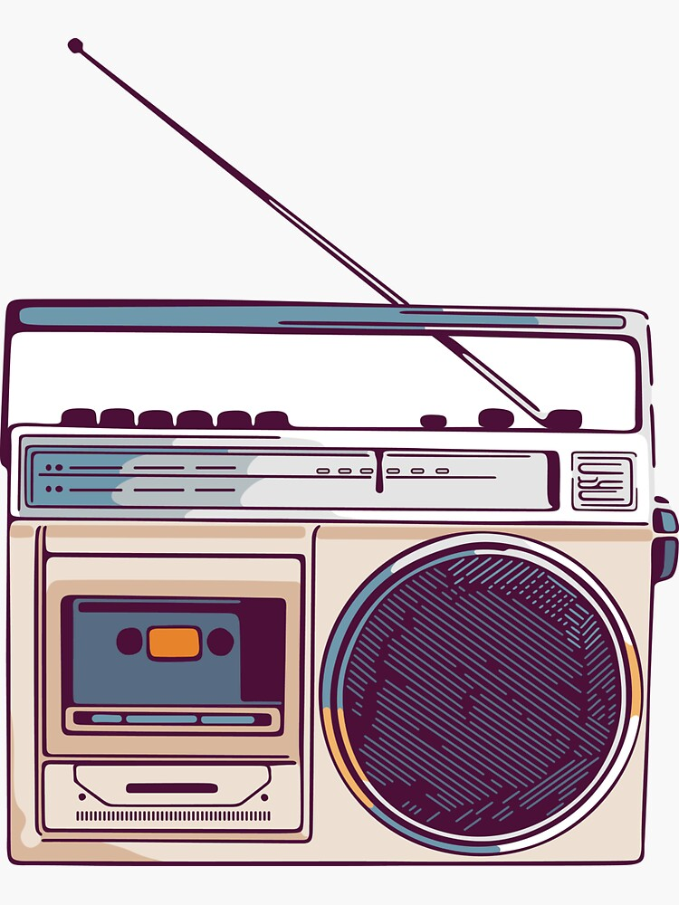Vintage Radio Stickers Redbubble