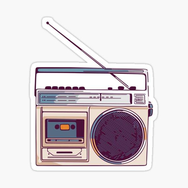 Retro Radio Boombox Sticker