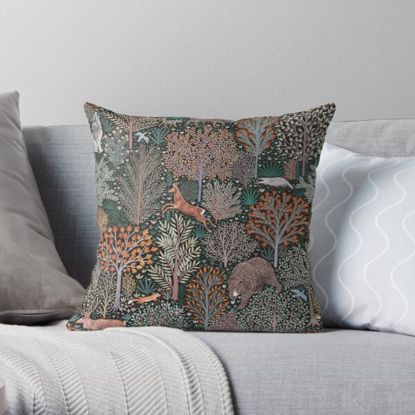 Forest animals - les animaux de la fôret Throw Pillow