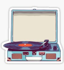 Blue Vinyl Record Player Sticker