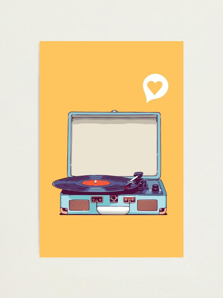 Alternate view of Blue Vinyl Record Player Photographic Print